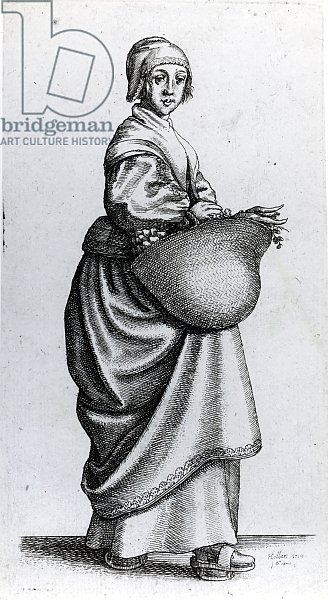 Maid returning from market, 1640