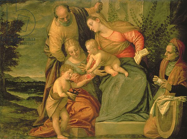 The Holy Family with St. Elizabeth and John the Baptist