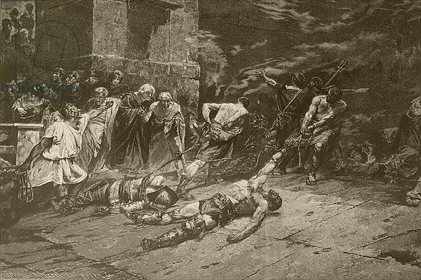 The Spoliarium, after a painting by Juan Luna, from 'Album Artistico', published c.1890