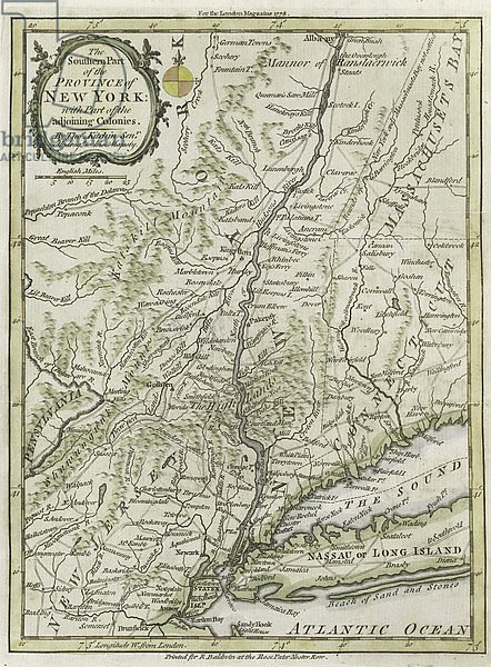 The southern part of the Province of New York, with part of the adjoining colonies, 1778