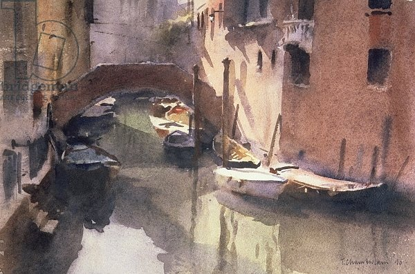 A Quiet Canal in Venice, 1990