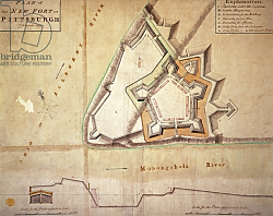 Постер Школа: Америка (18 в) Plan of the New Fort at Pittsburgh, November 1759