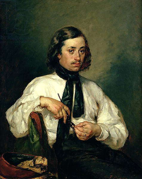 Portrait of Armand Ono, known as The Man with the Pipe, 1843