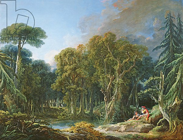 Постер Буше Франсуа (Francois Boucher) The Forest, 1740