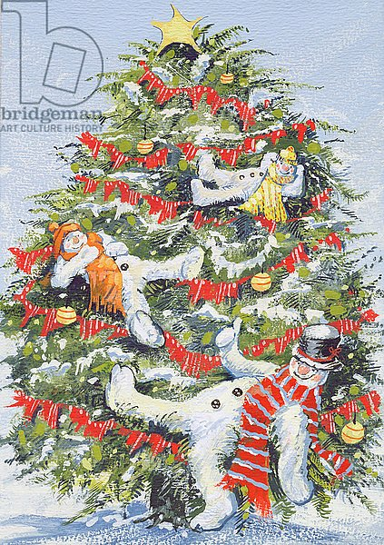 Snowmen in a Christmas Tree, 1999