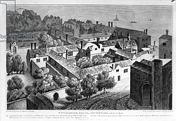 Постер Холлар Вецеслаус (грав) Winchester House, Southwark in about 1649, published in 1812