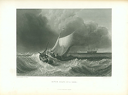 Постер Dutch Boats in a Gale