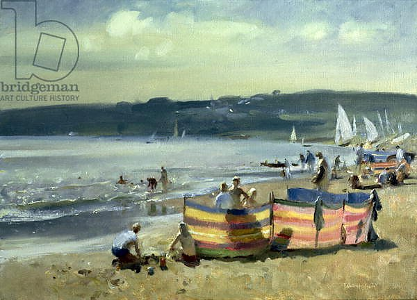 Постер Чемберлейн Тревор (совр) Children on the Beach at Abersoch