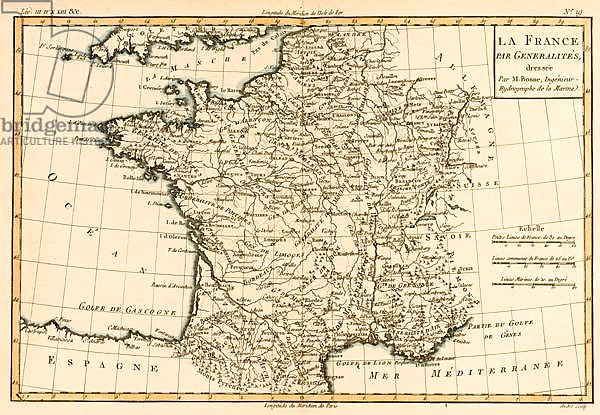 France by Regions, 1780