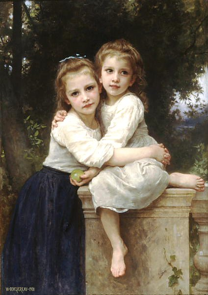 Постер Бугеро Вильям (Adolphe-William Bouguereau) Две сестры 5