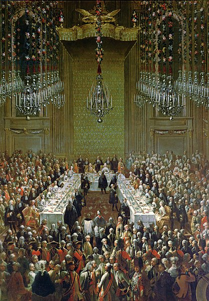 Banquet in the Redoutensaal, Vienna, 1760 2