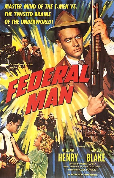 Film Noir Poster - Federal Man