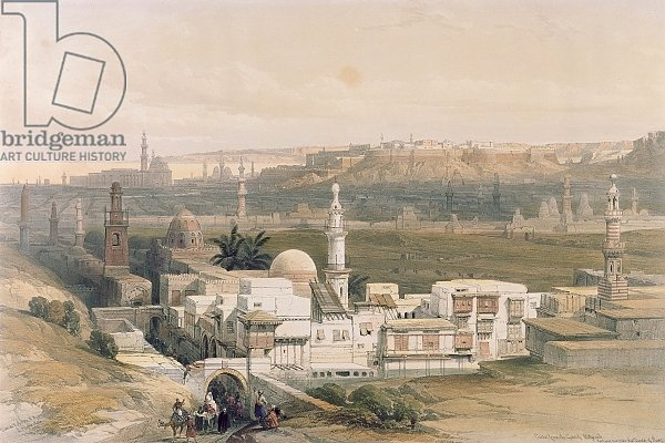 Cairo from the Gate of Citizenib, looking towards the Desert of Suez, from
