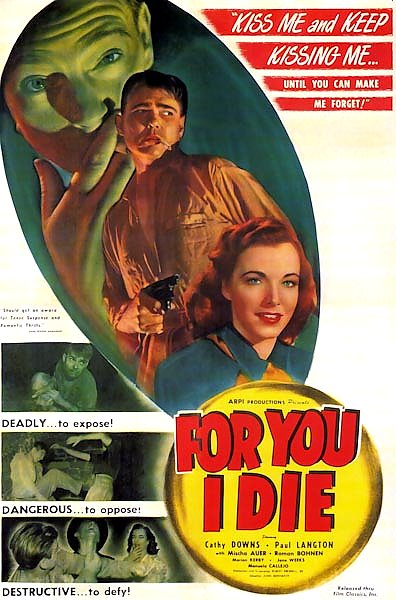 Film Noir Poster - For You I Die