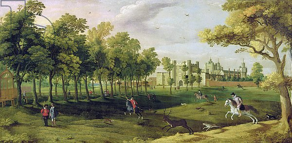 View of Nonsuch Palace in the time of King James I, early 17th century