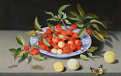 Постер Аст Балтазар Still Life of Cherries and Peaches