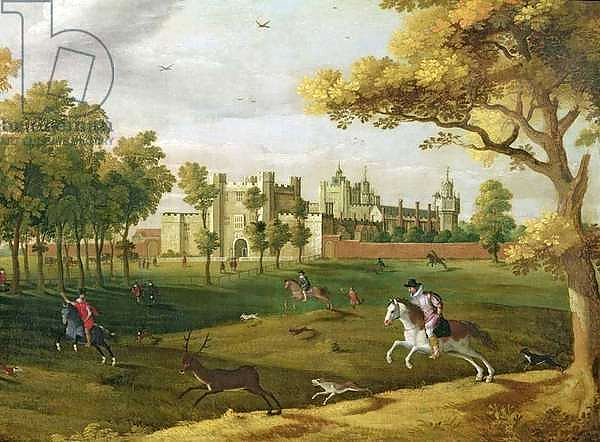 Nonsuch Palace in the time of King James I, early 17th century
