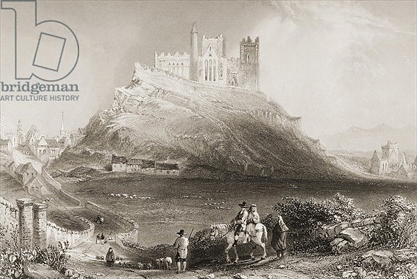 The Rock of Cashel, County Tipperary, Ireland. 1860s