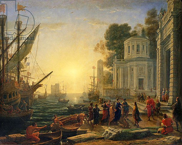 Cleopatra Disembarking at Tarsus, 1642