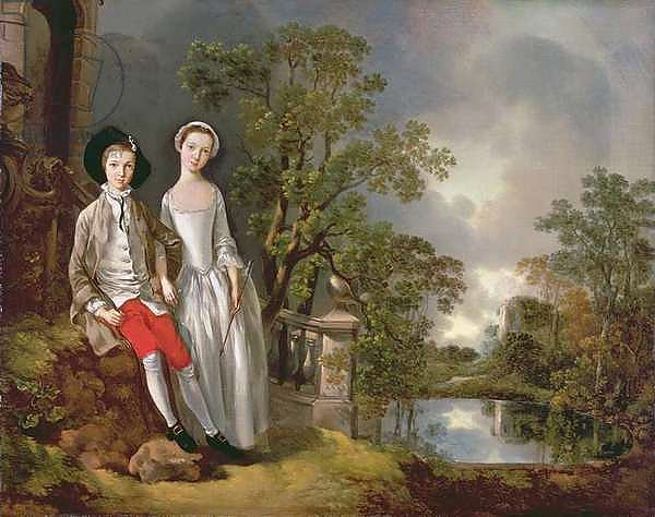 Portrait of Heneage Lloyd and his Sister, Lucy, c.1750