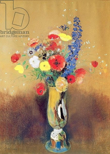 Wild flowers in a Long-necked Vase, c.1912