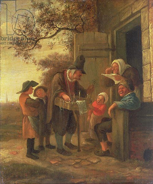 A Pedlar selling Spectacles outside a Cottage, c.1650-53
