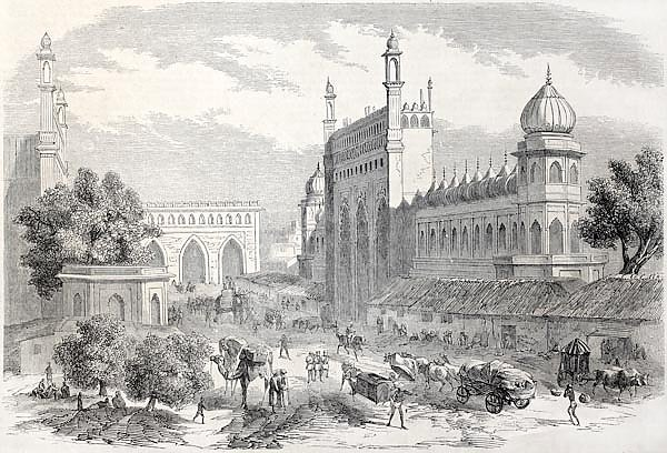 Lucknow, India. Created by Freeman and Godefroy-Durand after De Lagrange, published on L'Illustratio