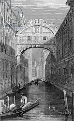 Постер Праут Самуель The Bridge of Sighs, Venice, engraved by Robert Wallis, 1829