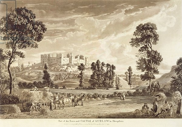 Part of the Town and Castle of Ludlow in Shropshire, 1779