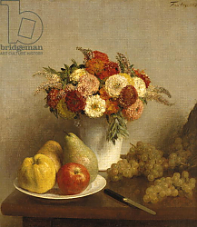 Постер Фантен-Латур Анри Flowers and Fruit, 1865
