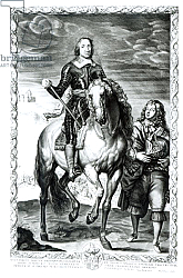 Постер Дик Энтони Equestrian portrait of Oliver Cromwell engraved by Pierre Lombart