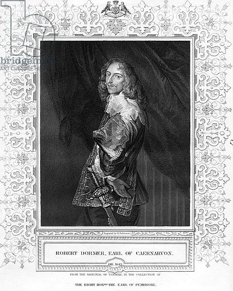 Robert Dormer, Earl of Caenarvon, print made by H. Robinson, illustration
