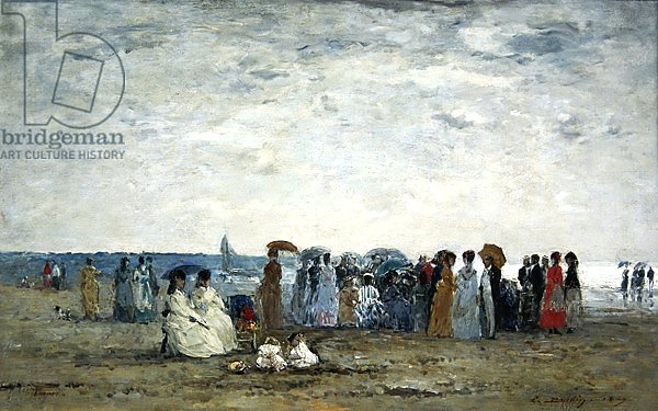 Swimmers on Trouville beach, 1869
