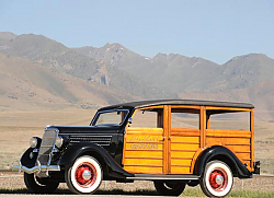 Постер Ford V8 Deluxe Station Wagon (48) '1935