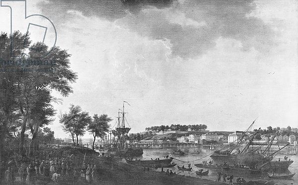 View of Bayonne seen from the avenue of Bouflers near the gate of Mousserole, 1761