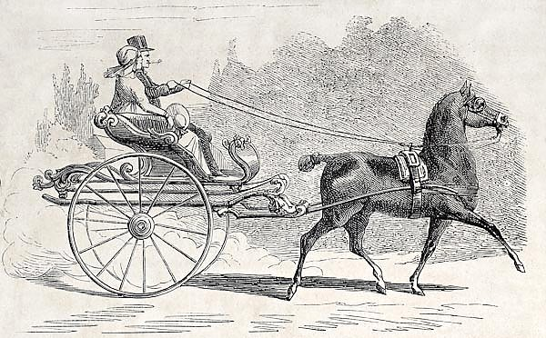 Dutch old time gig. Created by Marc, published on L'Illustration, Journal Universel, Paris, 1857