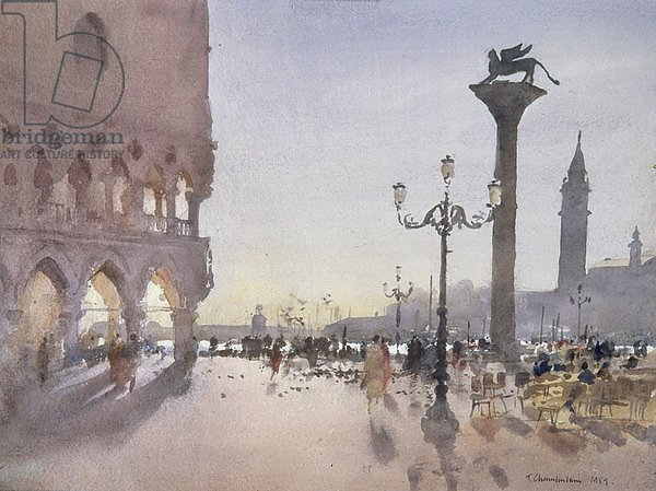 Early Morning, Piazzetta, Venice, 1989