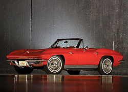 Постер Corvette Sting Ray ''Pilot Line'' Convertible (C2) '1963