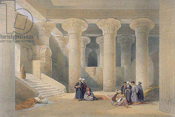 Interior of the Temple at Esna, Upper Egypt, from 'Egypt and Nubia'