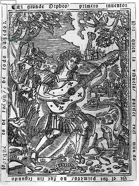 Orpheus Playing Music