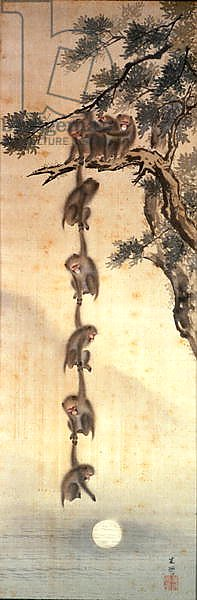 Monkeys reaching for the Moon, Edo Period