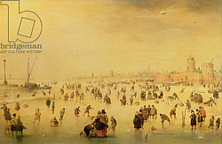 Постер Аверкамп Барет Skaters on a Frozen River, 17th century