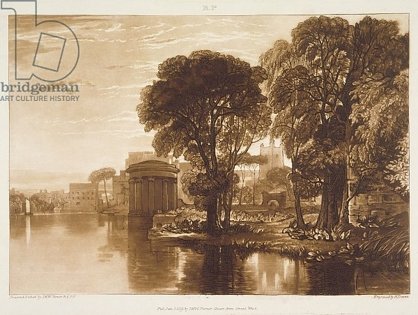 F.63.I Isleworth, from the 'Liber Studiorum', engraved by Henry Dawe, 1819