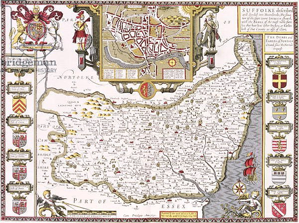 Постер Спид Джон Suffolk and the situation of Ipswich, 1611-12