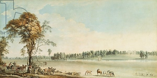 North West View of Wakefield Lodge in Whittlebury Forest, Northamptonshire, 1767