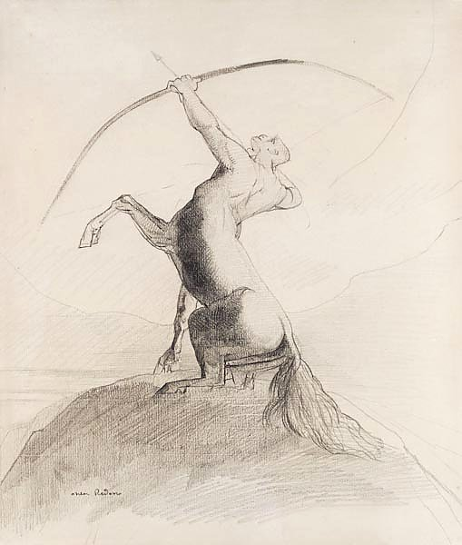 Centaur Aiming at the Clouds
