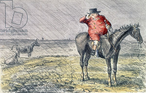 'Mr. Jorrocks Has a Bye Day', illustration from 'Handley Cross' by Robert Smith Surtees 1854