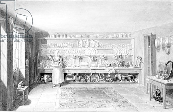 The Artist's Kitchen in Francis Street, 1846