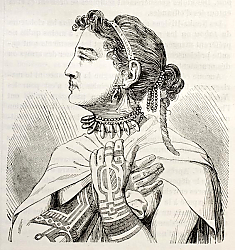 Постер Marquesas islands Queen. Created by Krusenstern, published on Magasin Pittoresque, Paris, 1843
