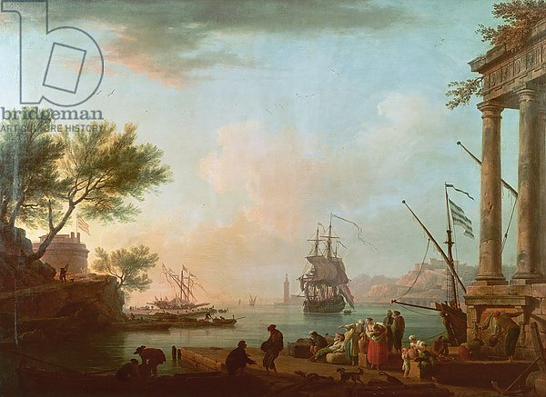 Sea Port, Sunrise, 1757